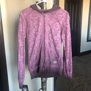 Affliction Rose Lace Memoir Sweatshirt NWT